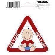 Nálepka výstražná dieťa v aute SHERON